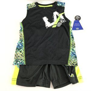 LA Gear Boys 2 Piece Outfit Tank Top Shorts Basket
